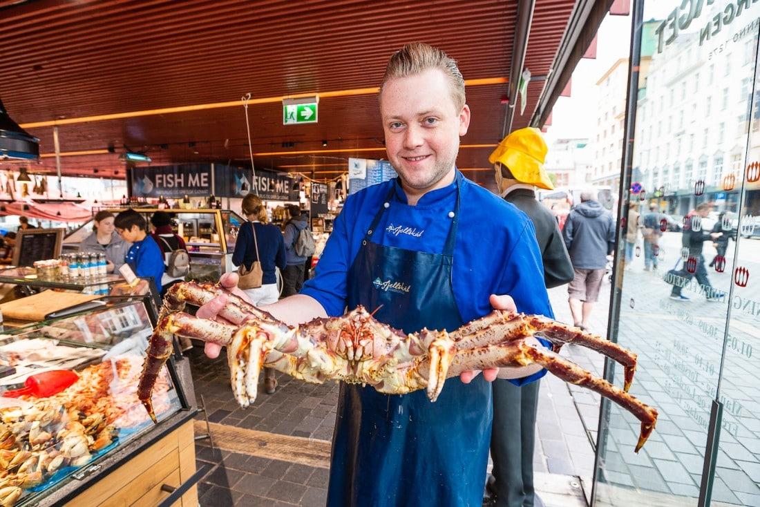 Sjømat fra Fjellskål Fisketorget