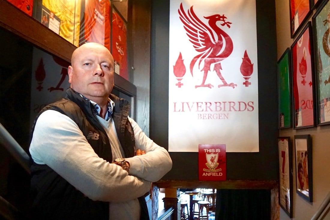 abcc06ca Nesten 1500 personer har totalt vært medlem av supportergruppen i Bergen.  Scruffy Murphy er deres egen stue når Liverpool ...